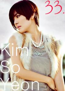 33. Kim So Yeon