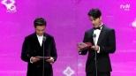 prezenterzy Lee Seo Jin i Cha Seung Won