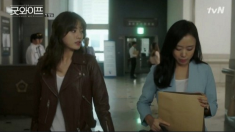 "Nana i Jeon Do Yeon w ""The Good Wife"""
